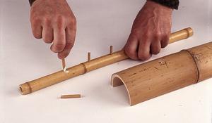 KROK II - Wykonywanie bambusowego wieszaka