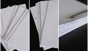 KROK III - Przygotowanie kartek notesu